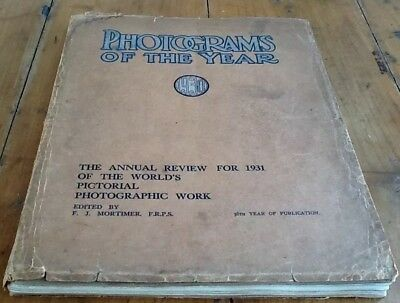 """""""Photograms of the Year 1930""""-World Photo Review 1931-64 B&W Plates-1 Color-Ads"""