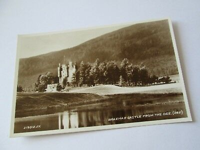 Postcard of Braemar Castle from the Dee (285) ( RP Unposted Valentine's)