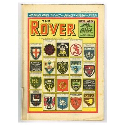 The Rover Comic February 20 1960 MBox1296  No.1808 School Badges From Scotland,E