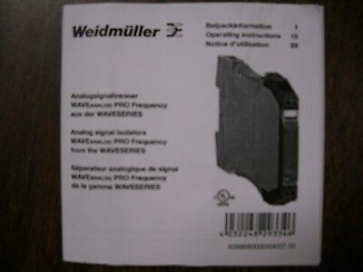 Weidmuller, 8581180000 NEW IN BOX