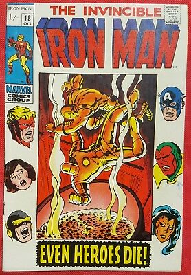 IRONMAN 18 MARVEL SILVER AGE 1969 Avengers appearance