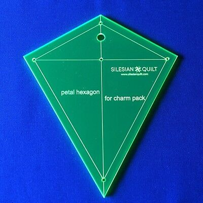 Template for cutting and patchwork - Petal hexagon