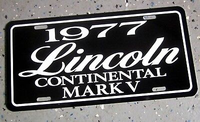 1977 Lincoln Continental Mark V License plate tag 77 personal luxury coupe 5