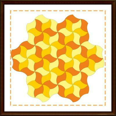 Template for cutting and patchwork - Spinning Star