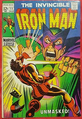 IRONMAN 11 MARVEL SILVER AGE 1969 Unmasked