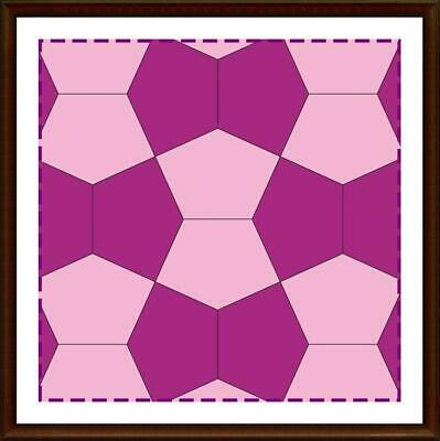 Template for cutting and patchwork - Cairo Pentagon