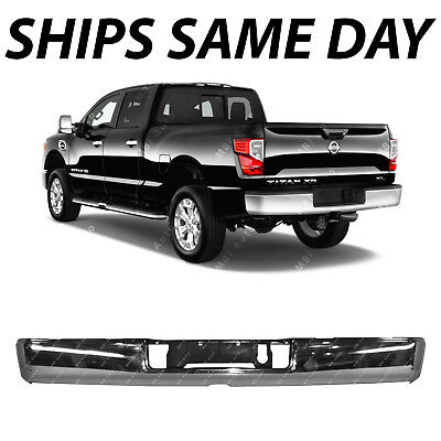 NEW Chrome Steel Rear Step Bumper Shell for 2016 2017 2018 Nissan Titan XD 16-18