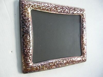 "Vintage Pewter Renaissance Ornate Standing Picture Frame 10"" X 8"" Photo"