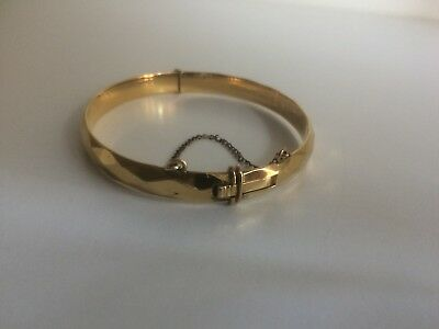 Vintage Retro  Rolled Gold 20 Microns Ladies Bangle - 10 Years Guaranteed
