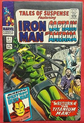Tales of Suspense 81 1966 3rd appearance of the Cosmic Cube