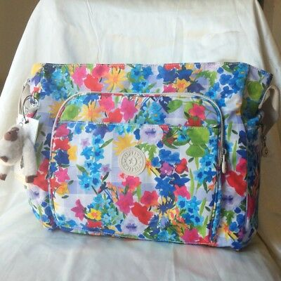 New WTags Kipling POPPER Diaper Shoulder Bag with Changing Pad- picnic flowered
