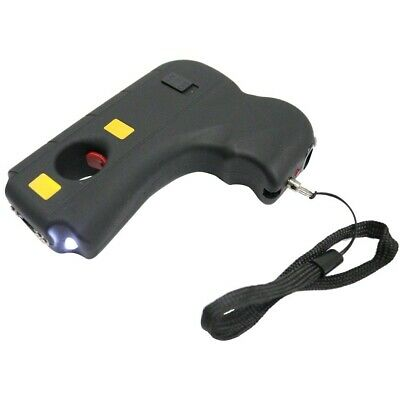 DEFENDER 10 Million Volt Rechargeable Pistol Grip STUN GUN w/ Light & Holster