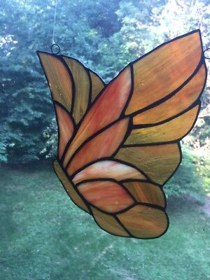Stained Glass Window Panel Of Butterfly