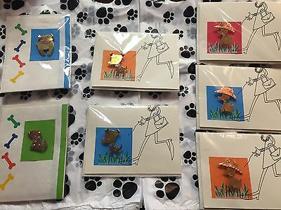 Lot of 7 Dog Pin Greeting Cards