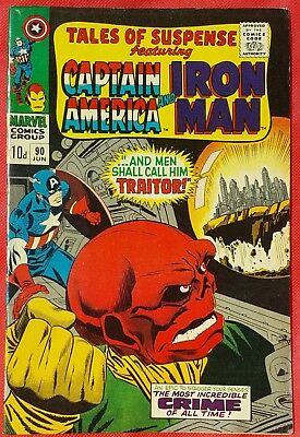 Tales of Suspense 90 Marvel Silver Age 1967 The Red Skull
