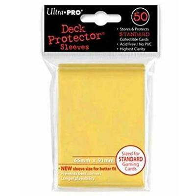 ULTRA PRO Deck Protector Sleeves Standard 50ct 66 x 91 Canary Yellow MTG Pokemon