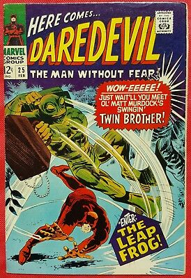 DAREDEVIL 25 MARVEL SILVER AGE 1967 1st appearance of Leap-Frog
