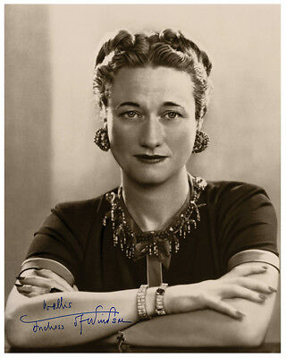 "WALLIS SIMPSON ""THAT WOMAN""  Edward VIII 8x10 Vintage Photograph Autograph RP"