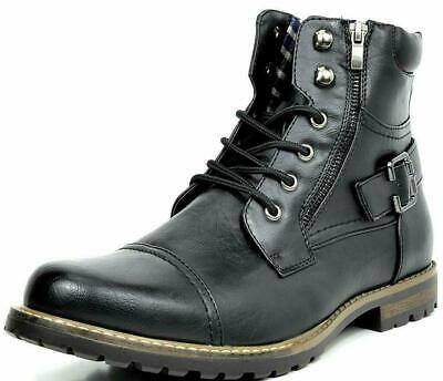 BRUNO MARC NEW YORK Men's Military Motorcycle Combat Boots