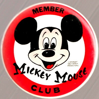1960's Walt Disney's  Mickey Mouse Club Pin Back Button