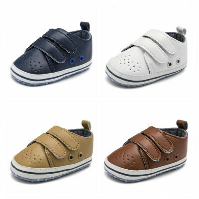 Soft Sole Newborn Baby Boy Pre-Walker Pram Shoes Casual Shoes Trainers 0-18 M