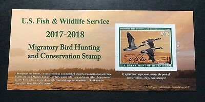 #RW84A 2017 - 2018 - US Federal Duck Stamp - Post Office FRESH **Artist Signed**