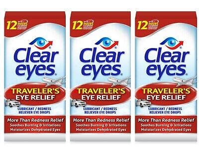 6 Pack Of Clear Eyes Drops Redness Relief~ 0.2 Oz.~ Exp 02/20