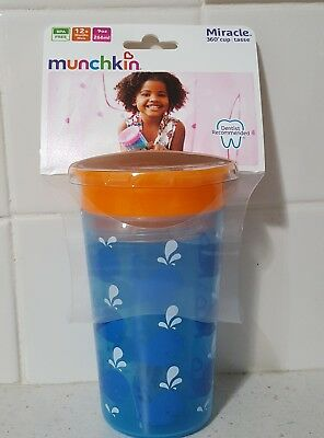 Munchkin- Miracle 360 Sippy Cup 9oz Blue Whale, Dentist Recommended 12+ months