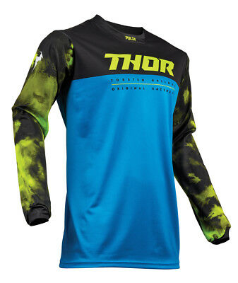 Thor MX Motocross Youth Pulse Air Jersey (ACID Electric Blue/Black) Choose Size