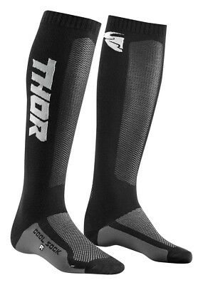 Thor MX Motocross Men's MX Cool Socks (Black/Charcoal) Choose Size