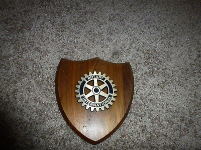 Rotary International Wood Plaque Bring business & professional leaders together