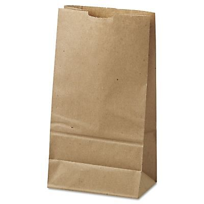 Brown Kraft Paper Bags Size #6 Food Service To Go Restaurant Store 500 ct.