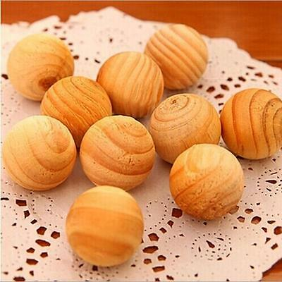 10PCS Cedar Wood Moth Balls Camphor Repellent Wardrobe Clothes Drawer Safety Use