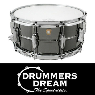 """Ludwig Black Beauty 14"""" x 6.5"""" Snare Drum Smooth Shell"""