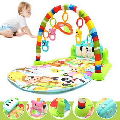 4 in 1 Baby Kid Playmat Play Musical Pedal Piano Activity Soft Fitness Gym Mat