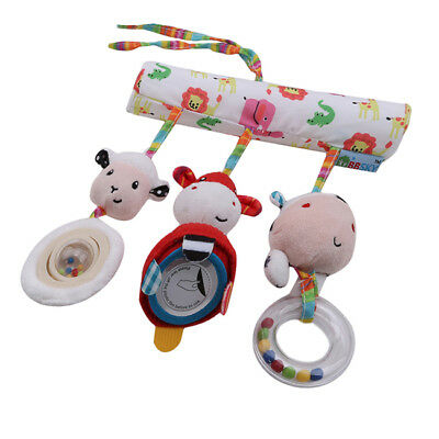 Cute Baby Appease Animals Newborn Rattles Hanging Plush Toy Stroller Toy Z
