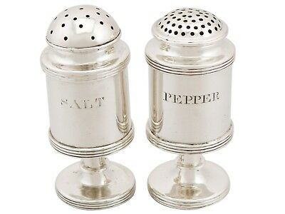 Antique Indian Colonial Silver Salt and Pepper Circa 1820