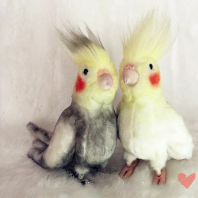 2018 Simulation Cockatiel Parrot Doll Kid Creative Bird Plush Toy Xmas Gift