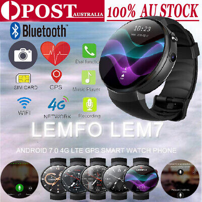 59eb52cc2 LEMFO LEM7 Smart Watch 2018 4G SIM 16GB GPS Heart Rate Camera For Android  IOS