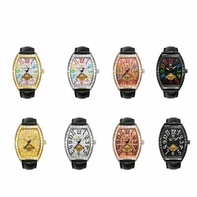 TEVISE T812 Luxury Alligator Print Leather Band Men Automatic Mechanical WatchWS