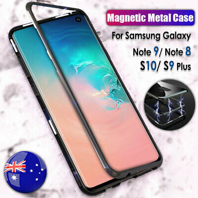 Magnetic Adsorption Metal Tempered Glass Hard Case for Samsung S9 S8 Note 9 8