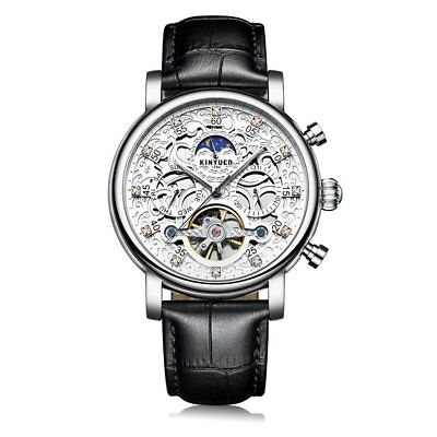 Hollow Mechanical Movement Automatic Adult Men's Watch with Buckle Clasp WS
