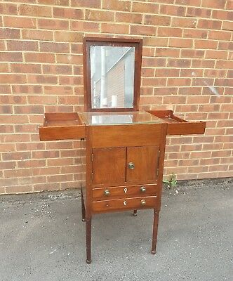 Antique Campaign Dressing Table Victorian