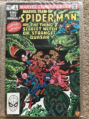 MARVEL TEAM-UP ANNUAL (Spider-Man, Thing, Scarlet Witch, Dr Strange) #5 - NM