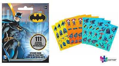 Batman Party Supplies Favours STICKER BOOKLET