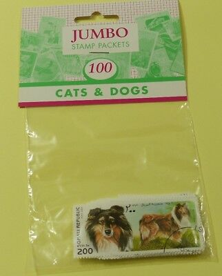 Thematic stamp packet: 100 Cats & Dogs on stamps