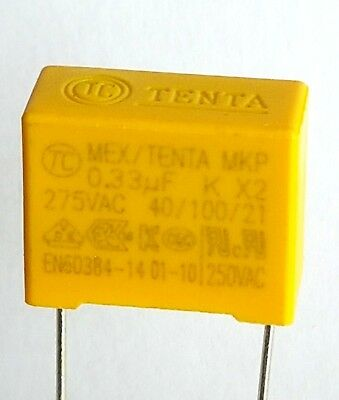 [2pcs] 0.33uF 275v, 330nF 330K, MPX X2, Safety Capacitor pitch 15mm – ref:721