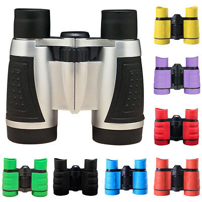 KF_4X Magnification 30mm Objective Colorful Kids Child Compass Binoculars Toy De
