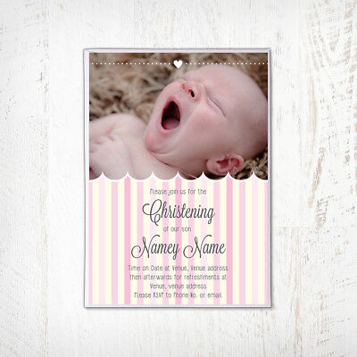 NAMING DAY BIRTHDAY COMMUNION INVITATIONS BAPTISM 40 PERSONALISED CHRISTENING
