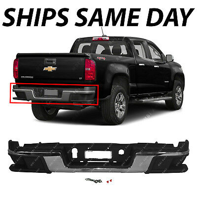NEW Chrome Steel Rear Bumper Assembly for 2015-2018 Chevy Colorado & GMC Canyon